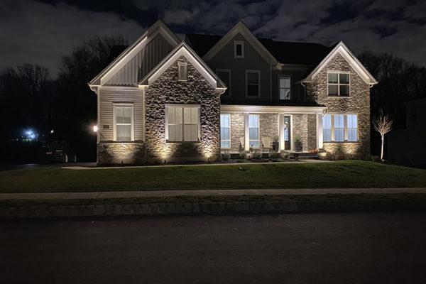 Landscape lighting.